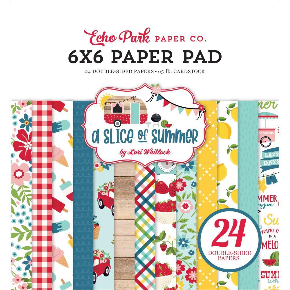 "Paper Pad 6\""X6\"" 24/Pkg A Slice Of Summer"