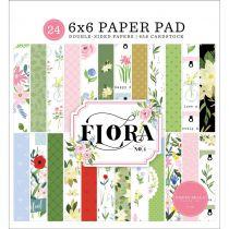 """Paper Pad 6\""""X6\"""" 24/Pkg Flora No. 4"""