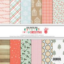 "Paper Pad 6\""X6\"" 24/Pkg HOME FOR CHRISTMAS"