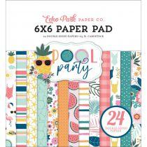"Paper Pad 6\""X6\"" 24/Pkg Pool Party"