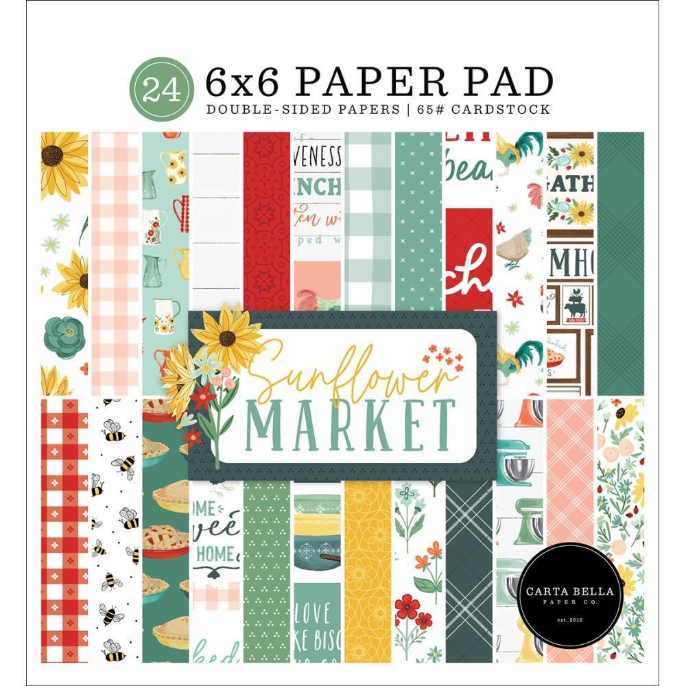 "Paper Pad 6\""X6\"" 24/Pkg Sunflower Market"