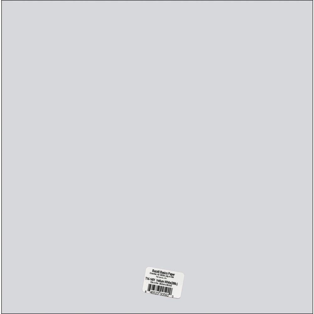 PAPIER BAZZILL T14-1401 SPECIALTY VELLUM WHITE 29LB