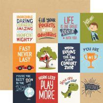 PAPIER IMPRIME ALL BOY - 3 x 4 Journaling Card