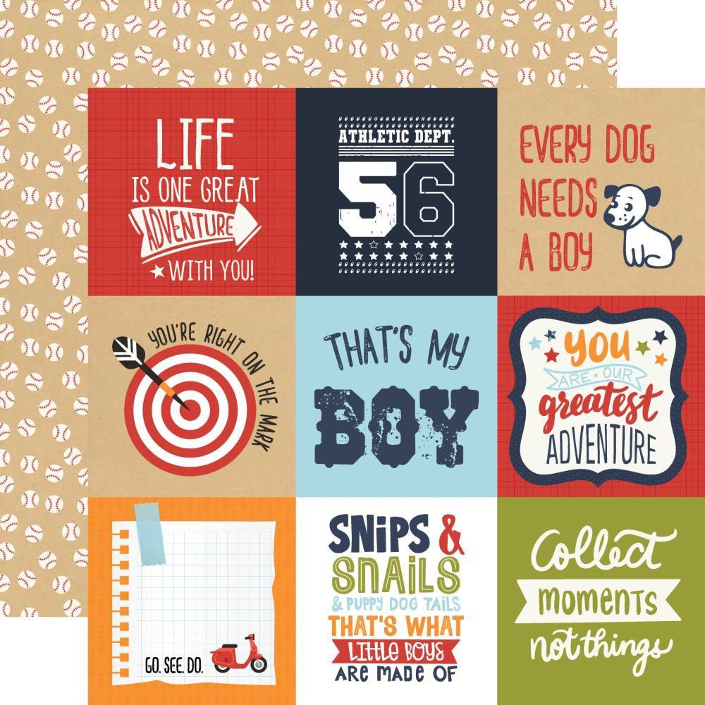 PAPIER IMPRIME ALL BOY - 4 x 4 Journaling Cards