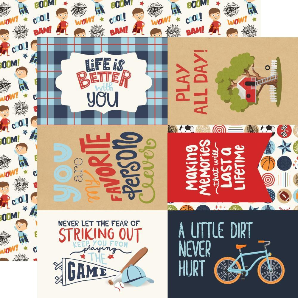PAPIER IMPRIME ALL BOY - 4 x 6 Journaling Cards