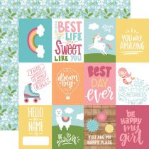 PAPIER IMPRIME ALL GIRL - 3 x 4 Journaling Cards