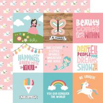 PAPIER IMPRIME ALL GIRL - 4 x 4 Journaling Cards