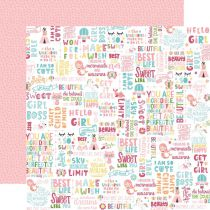 PAPIER IMPRIME ALL GIRL - Hello Girl