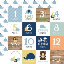 PAPIER IMPRIME BABY BOY - Milestone Cards