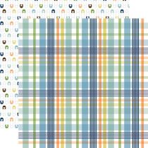 PAPIER IMPRIME BABY BOY - Newborn Plaid