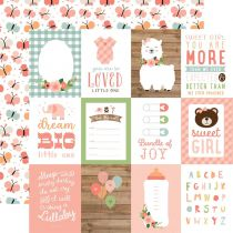 "PAPIER IMPRIME BABY GIRL - 3""X4\"" Journaling Cards"