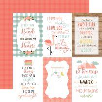 "PAPIER IMPRIME BABY GIRL - 4\""X6\"" Journaling Cards"