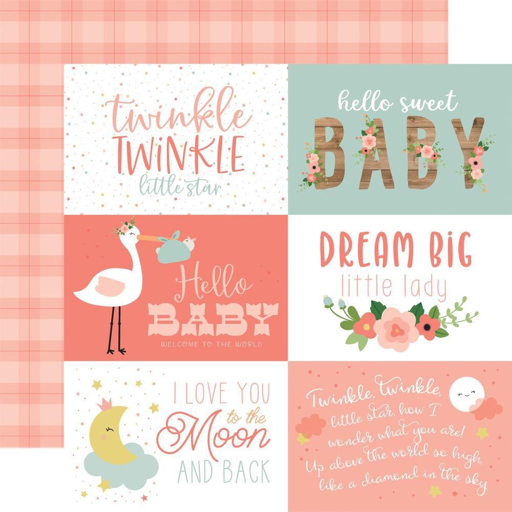 "PAPIER IMPRIME BABY GIRL - 6\""X4\"" Journaling Cards"