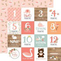 PAPIER IMPRIME BABY GIRL - Milestone Cards
