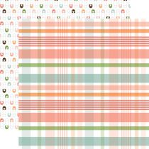 PAPIER IMPRIME BABY GIRL - New Arrival Plaid