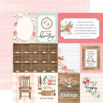 PAPIER IMPRIME FARMHOUSE MARKET - 3 x 4 Journaling Cards