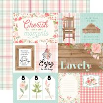 PAPIER IMPRIME FARMHOUSE MARKET - 4 x 6 Journaling Cards