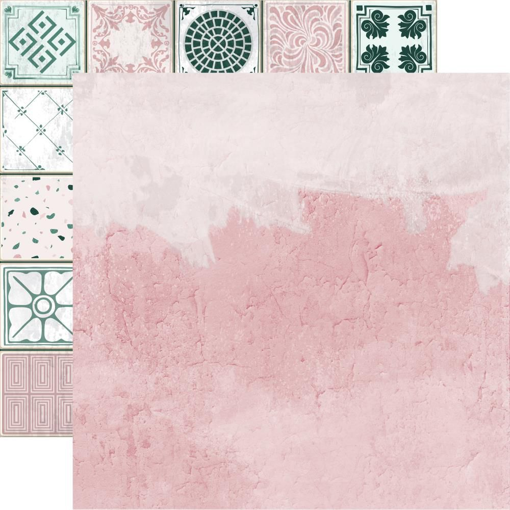 PAPIER IMPRIME LILY AND MOSS - Pink Plaster