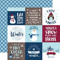 PAPIER IMPRIME MY FAVORITE WINTER - 4x4 Journaling Cards