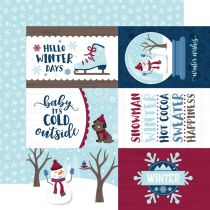 PAPIER IMPRIME MY FAVORITE WINTER - 4x6 Journaling Cards