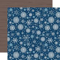 PAPIER IMPRIME MY FAVORITE WINTER - Sparkling Snowflakes