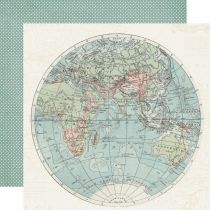 PAPIER IMPRIME SIMPLE VINTAGE TRAVELER - Hello World