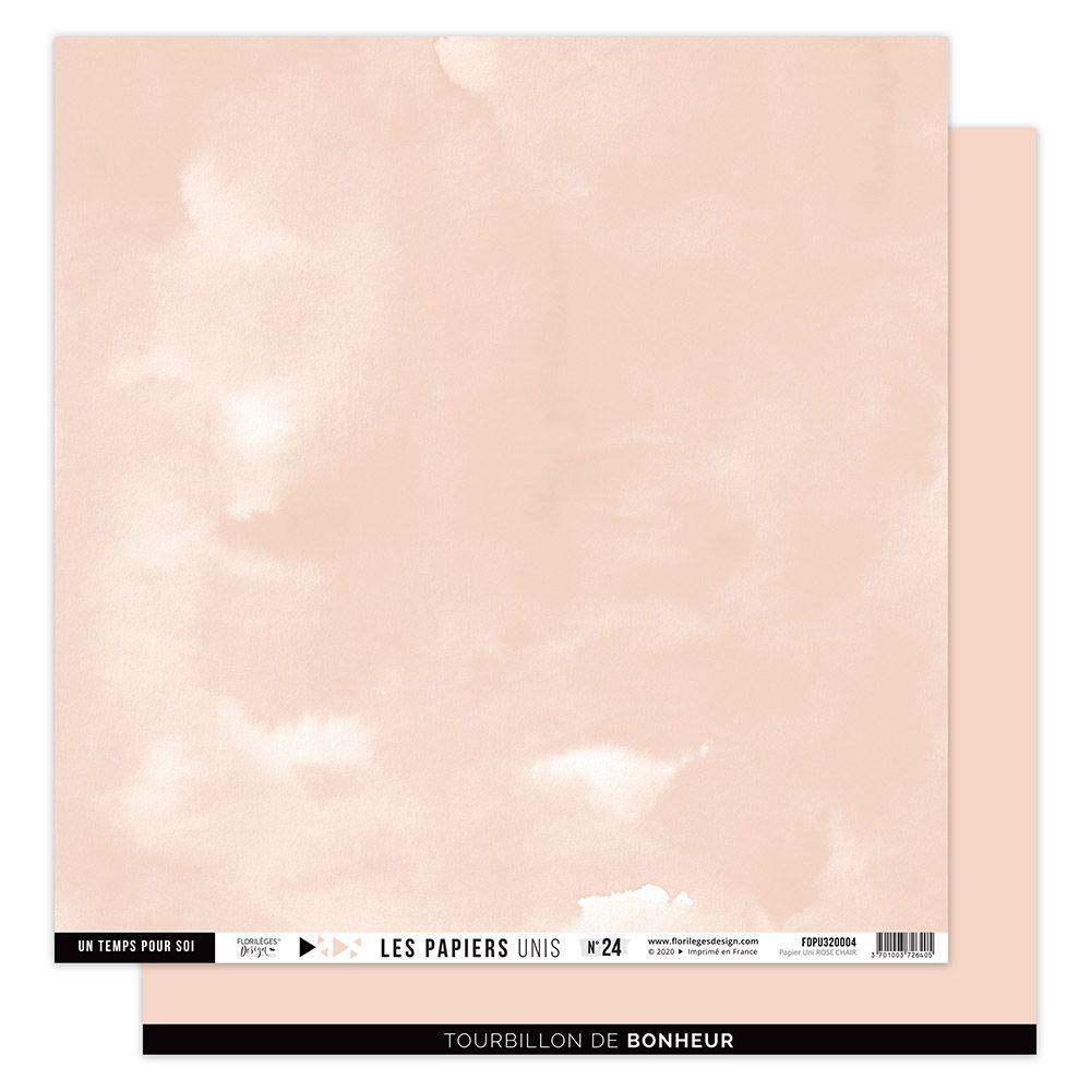 Papier Uni N°21 ROSE CHAIR