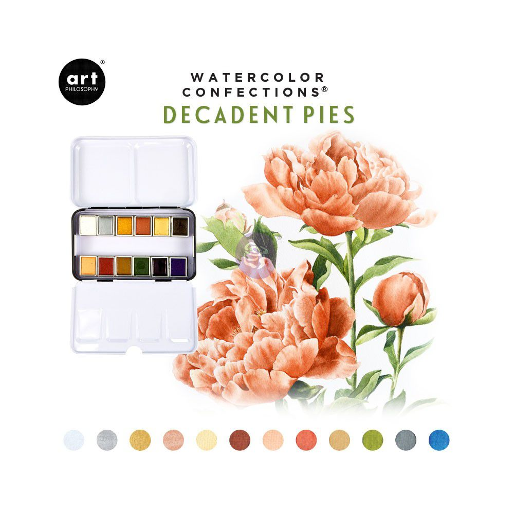 PEINTURES AQUARELLES - Watercolor Confections Decadent Pies