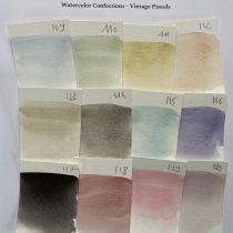 PEINTURES AQUARELLES - Watercolor Confections Vintage Pastel