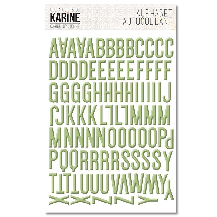 Planche alphabet Cahier d\'Automne de Karine Cazenave-Tapie