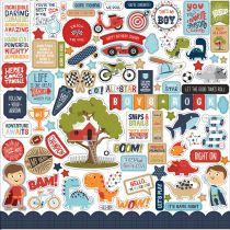 PLANCHE DE STICKERS 30.5 X 30.5 CM - All Boy