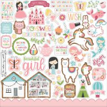 PLANCHE DE STICKERS 30.5 X 30.5 CM - All Girl
