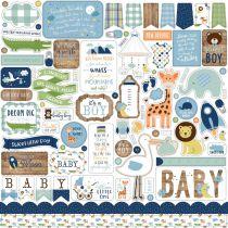 PLANCHE DE STICKERS 30.5 X 30.5 CM - Baby Boy