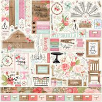 PLANCHE DE STICKERS 30.5 X 30.5 CM - Farmhouse Market