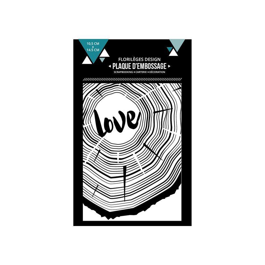 PLAQUE A EMBOSSER - De bois et d\'amour