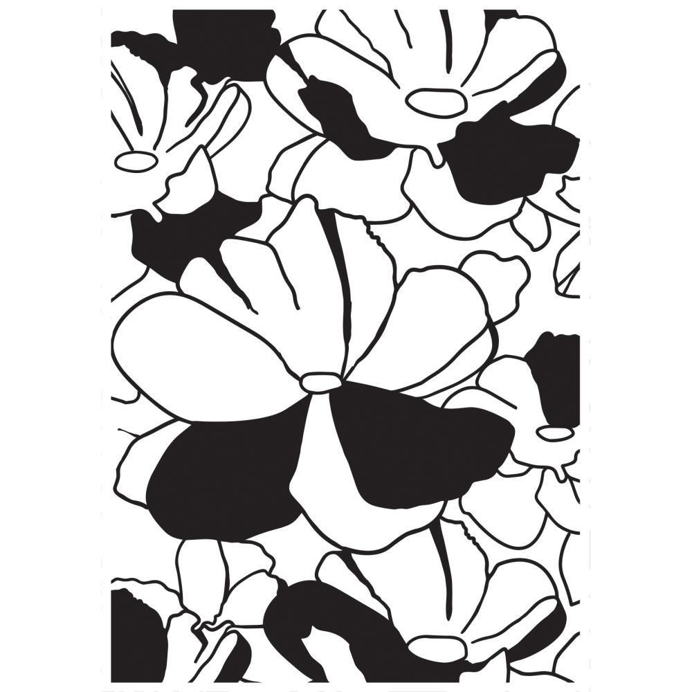 PLAQUE A EMBOSSER FLEURS - Large Flower