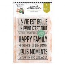 Plaque d\'embossage HAPPY FAMILY