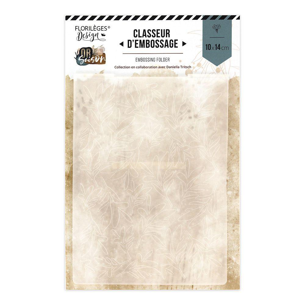 Plaque d\'embossage TAPIS DE FEUILLES