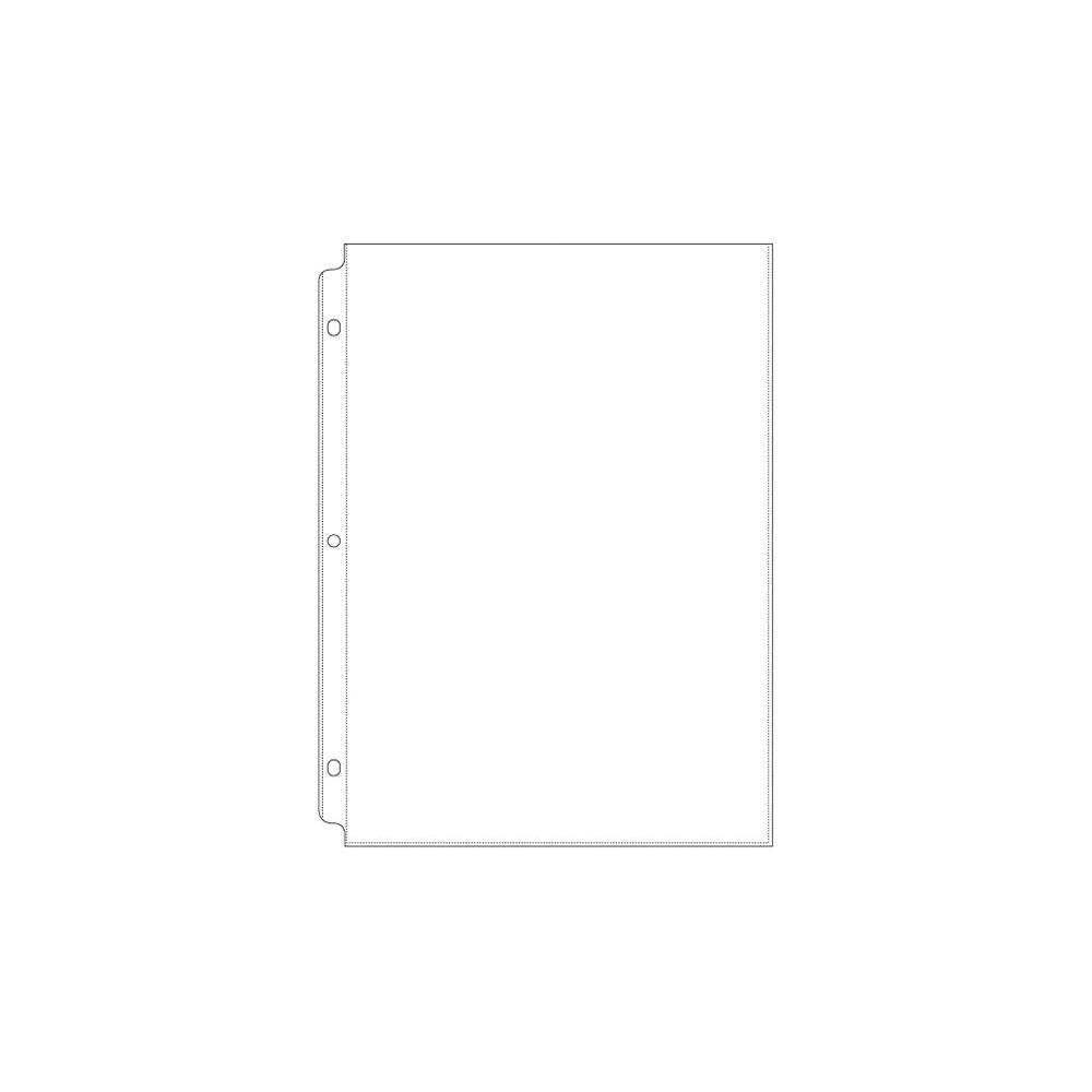 "POCHETTES PERFOREES POUR ALBUM 8.5x11\"" Full Page"