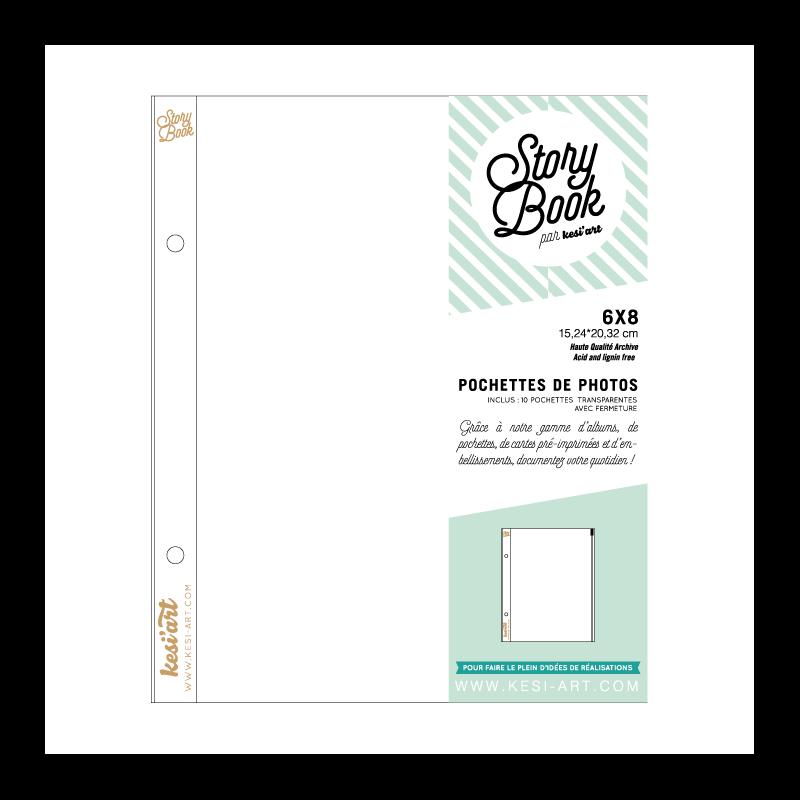 Pochettes transparentes avec fermeture zip - 15 x 20 cmm