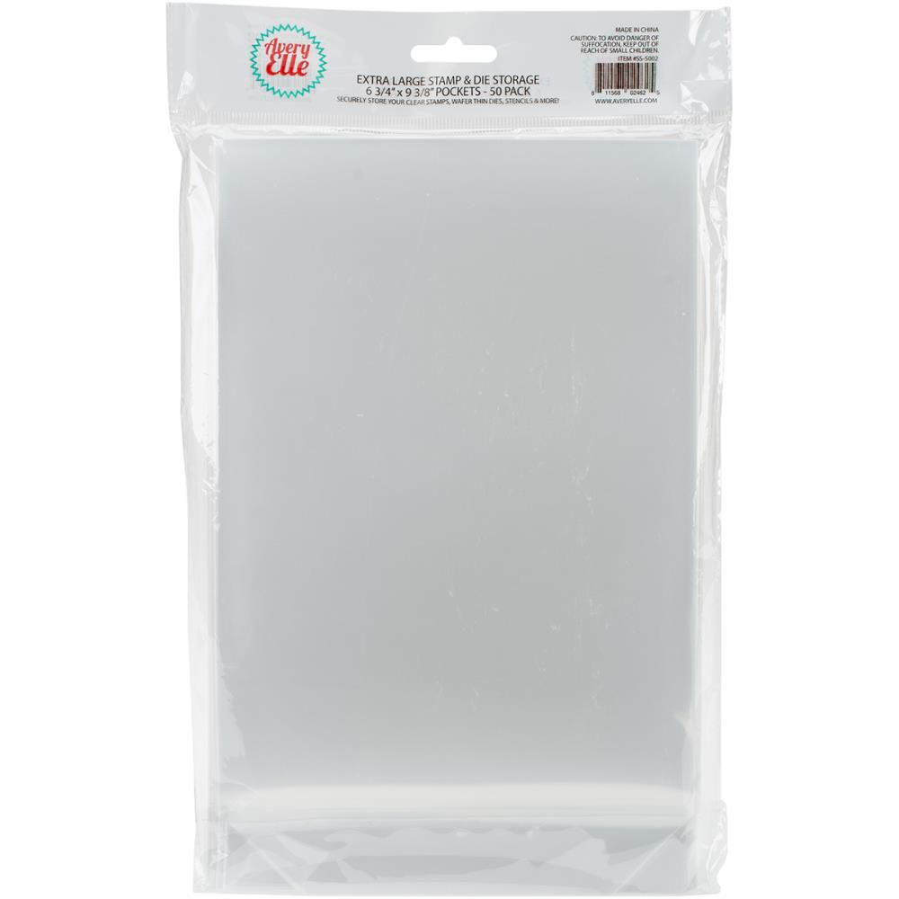Pochettes transparentes de rangement 25/Pkg Small - 17x24,5 cm