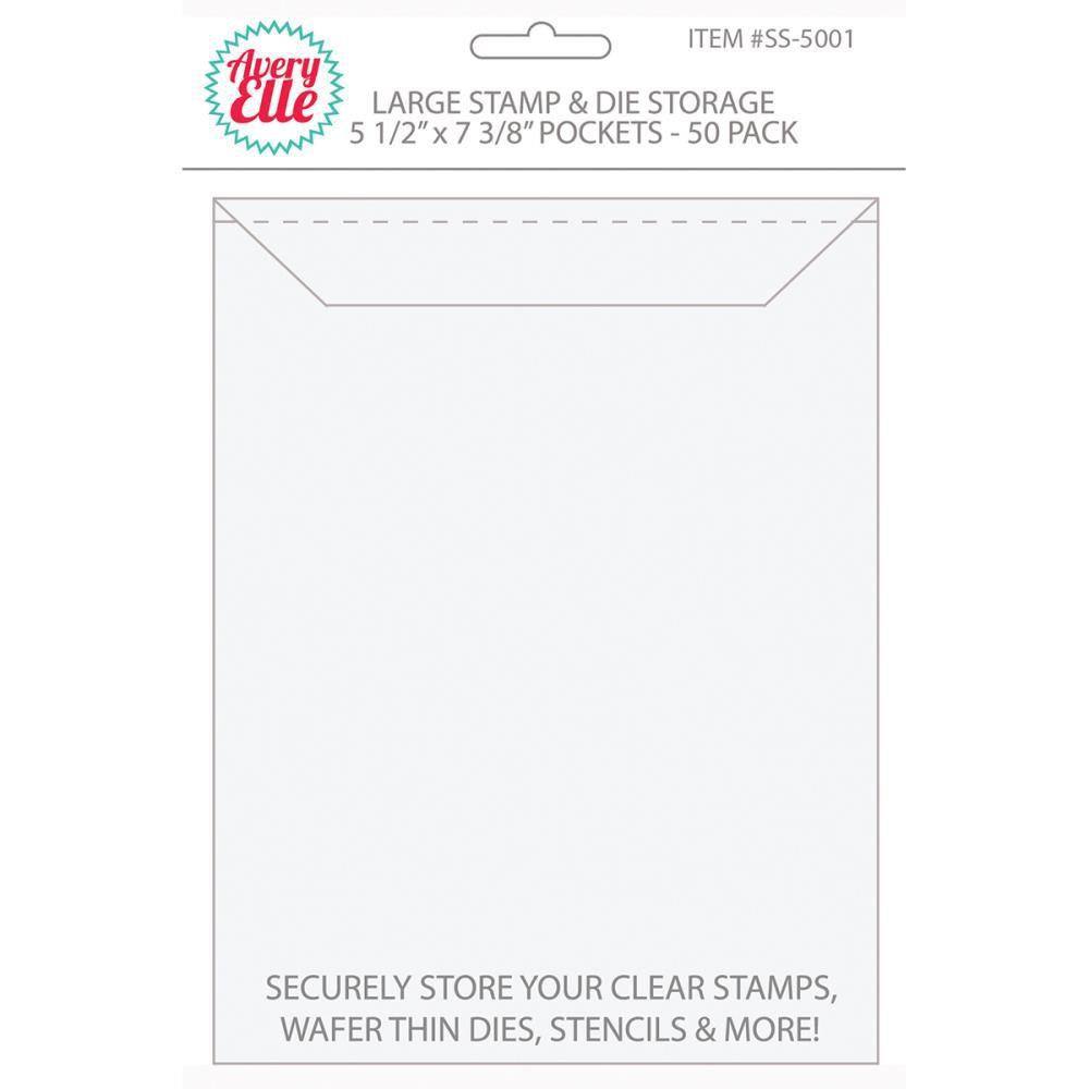 Pochettes transparentes de rangement 50/Pkg Large - 12,7x18 cm