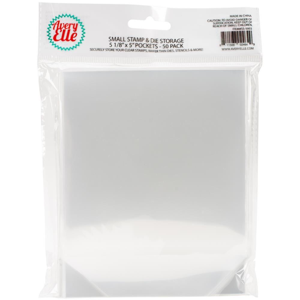 Pochettes transparentes de rangement 50/Pkg Small - 12,7x12,7 cm