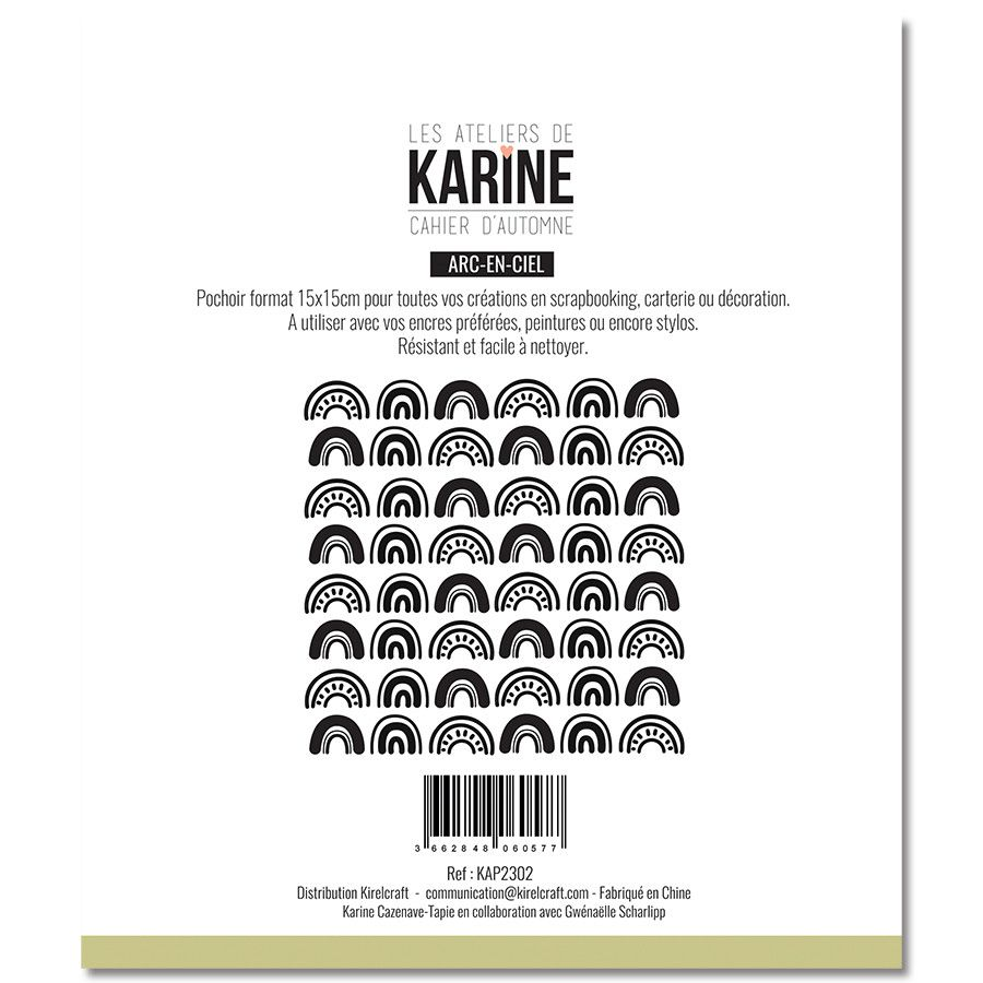 Pochoir Arc-en-ciel - Les Ateliers de Karine