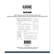 Pochoir Broderie A contre courant -Les Ateliers de Karine