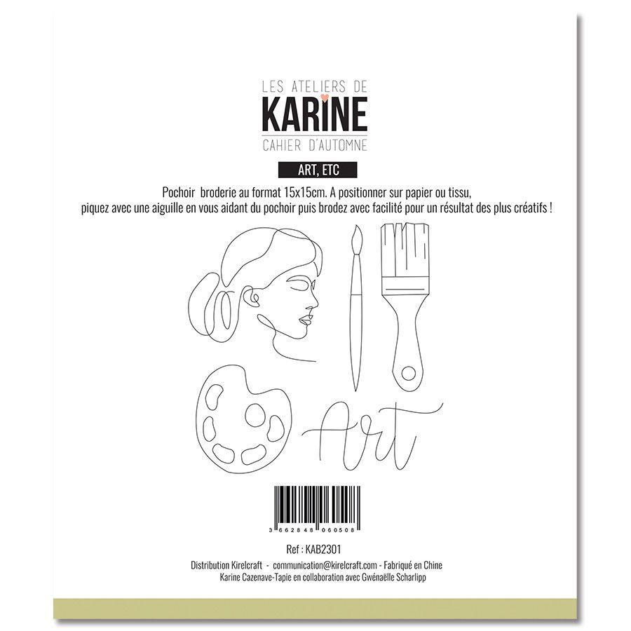 Pochoir broderie Art - Les Ateliers de Karine