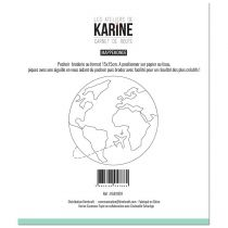 POCHOIR BRODERIE CARNET DE ROUTE - Mappemonde