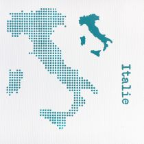POCHOIR CARTE DE L ITALIE