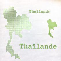 POCHOIR CARTE DE LA THAILANDE