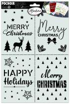 POCHOIR CARTERIE - Merry Christmas A4